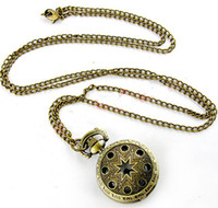 Wholesale Men s Antique Pocket watch with chain Quartz wristwatches Necklace Classic Pocket Watches Hollow out a pocket watch