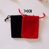 Wholesale Drawstring Jewelry Velvet Gift Retail Package Bags x9cm Wedding Christmas Gift Pouches China Post Air Mail