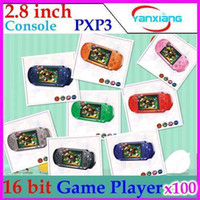 Wholesale DHL inch PXP3 Slim Station Bit Pocket Game Video Games Player Best Children Gifts Many Classical Games RW PXP3