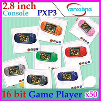 Wholesale DHL PXP3 MD Pocket Game Player Console portable with many classical bit handheld games console quot screen RW PXP3