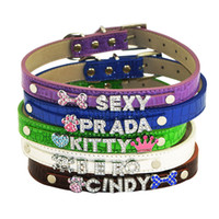 Wholesale Croc Dog Cat Pet Personalized Collar S M L Free name LETTERS Charm