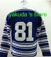 2014 Winter Classic Men's Jersey Sweater 81 Phil Kessel Blue...