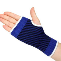 Wholesale 1 Pair Elastic Striped Thumbhole Wrist Palm Hand Support Protecting Brace Sport Outdoor HG