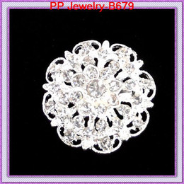 12PCS LOT Sparkling Clear Rhinestone Pretty Crystal Small Floral Silver Alloy Broooch Cake Decorating Brooch Jewelry Gift Pins B679