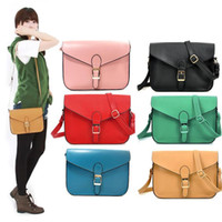 Wholesale S5Q Vintage Womens PU Leather Crossbody Satchel Shoulder Bag Handbag AAACTD