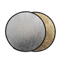 Wholesale New in1 INCH cm Golden amp Silver Collapsible Reflector Disc for Photograph Studio Light E0244A60