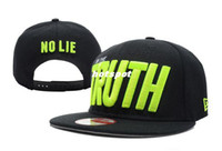 Wholesale I m The Truth no lie Snapback caps high quality adjustable sport hats caps snapback black yellow sports hats