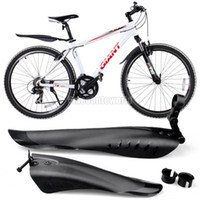 Wholesale Mountain Bike Bicycle Front Rear Black Tire Mudguards Mud Guard Fender Set c11