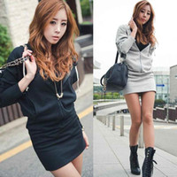 Cotton Blend womens jumpers - S5Q Fashion Womens Angel Wings Printed Long Sleeve Jumper Hoodie Sweater Mini Dress AAACRR
