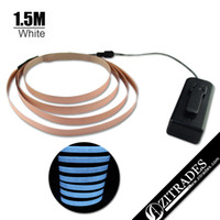 Wholesale ZITRADES modes cm cm White Neon Glowing Strobing Electroluminescent Ribbon EL Belt Tape Ft with super M tape