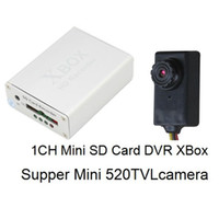 Wholesale 1CH Mini XBOX DVR Recorder Super Mini TVL High Resolution Camera CCTV Camera