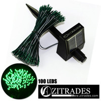 Wholesale ZITRADES Waterproof FT LED Modes Green Solar Fairy String Lights for outdoor gardens homes Christmas party Garden decorative