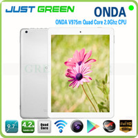 Onda 9.7 inch Quad Core 9.7 inch tablet Onda V975M Retina Screen 2GB 32GB Quad Core 2048*1536 Front 2.0M Back 5.0M camera 2.0 GHz tablet pc