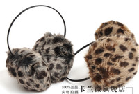 Wholesale Women Lady Girl Winter Fur Rabbit Soft Warmer Leopard Earcap earmuffs cover