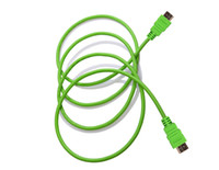 Cable HDMI male to male 3 Feet 1meter HDMI to HDMI Cable Version 1.4 Gold Digital Audio Video Cable 50pcs lot Video Game TV Computer Accessories Green Color