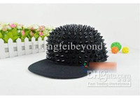 Wholesale PUNK Style Fashion Alloy Caps And Visors Women And Men Hats All over Spike Baeball Caps Hot Sale