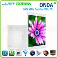 Onda 9.7 inch Quad Core Onda V975M IPS 9.7 inch tablet Retina Screen 2048x1536 2GB 32GB 2.0GHz amlogic quad core external 3g android 4.2