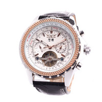 Wholesale Luxury Multifunctional Tourbillon Automatic Mechanical Watch Men Gift Drop shipping