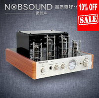 Wholesale hot sale off nobsound Ms d hifi tube amplifier amplifier tube audio power amplifier wooden frame brushed metal front panel