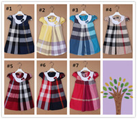 TuTu Summer A-Line Cotton Girls Dress Baby KidsPrincess Skirt Chest Folds Skirt American British Style Children's Dresses 20pcs lot Fedex Free Shipping