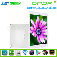 Onda 9.7 inch Quad Core Onda V975M 9.7 Retina Screen 2048x1536 2GB 32GB 2.0GHz quad core tablet android 4.2 Amlogic M802 Metal Body Dual Camera