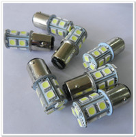 SMD SMT LED Bulbs T10 194-168-158-161-175 Promotion 100pcs 1157 BA15D 1156 BA15S P21W 5050 13 SMD 13 led Car Auto LED turn signal reverse light