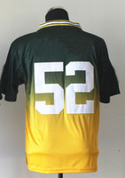 Football Men Short 2013 New Style Men's American Football Jerseys #52 Clay Matthews Green Yellow Drift Fashion II Jersey Hot Sell