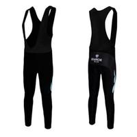 Wholesale Black Bianchi Bib Long Pants Men Cycling Jerseys Breathable Polyester Tight Fit Comfortable Winter Men Bib Cycling Jersey Sets