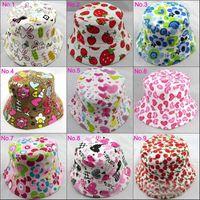 Unisex Spring / Autumn Newborn Hat - Children Beanie Hat Caps Child Sun Hat Bucket Hat Baby Sunbonnet Kids Topee Boys And Girls Cute Printed Basin Cap Fashion Casual Canvasomm