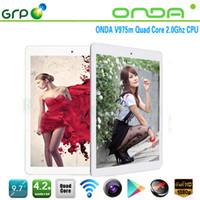 Onda 9.7 inch Quad Core Retina tablet IPS 2048x1536 Onda V975m 9.7 inch android 4.2 quad core 2GB 32GB Dual camera tablet Original