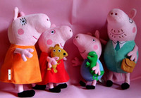 Wholesale Peppa Pig Plush toys Peppa Pig Family Set Soft toys Daddy Pig MummyPig Peppa Pig George Pig With CE Mark