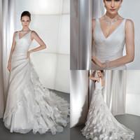 Cheap A-Line Cheap Wedding Dresses Best Reference Images V-Neck 2014 Beach Bridal Dresses