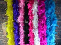 Wholesale cm Turkey Feather Boa Strip Wedding Marabou Feather Boa Scarf Colors