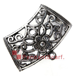 12PCS LOT Hot Fashion DIY Pendant Scarf Jewelry Accessories Mental Alloy Charm Flower Slide Bails Holding Tube, Free Shipping, AC0250A