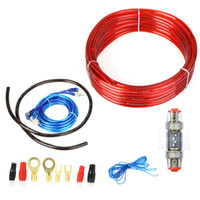 1500w K1033 Cables, Adapters & Sockets 1500W Car Audio Wire Wiring Amplifier Subwoofer Speaker Installation Kit 8GA Power Cable 60 AMP Fuse Holder