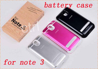 For Samsung   black white pink High-capacity 4200mAH Flip Cover Extended Backup Power Battery Charger Case For Samsung Galaxy Note 3 note3 N9000