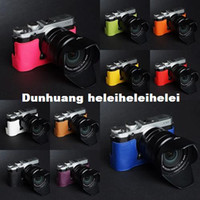 Wholesale Taiwan TP Original FUJI Fuji X M1 XM1 genuine leather camera bag dock X A1 XA1 leather jacket