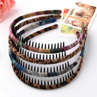 Wholesale Hair accessory fabric belt leopard print headband