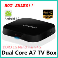Dual Core Included 1080P (Full-HD) Smart tv box Android 4.2 A20 Dual Core ARM Cortex-A7 Full HD 1080P Smart TV Box 1GB DDR3 Support 802.11 b g n Wireless free shipping B136