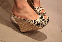 Cheap 2013 FREE SHIPPING ALL COUNTRY ! Bohemian Wedge Women sandals for Lady shoes and Slipper & Black,Red,Brown