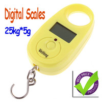 Disposable Kitchen Scales Digital Mini Digital Hanging Luggage Fishing Weighing Scale 25kgx5g,10pcs lot,freeshipping Dropshipping wholesale