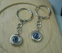 Coin Holder belt key holders - Hot Tibetan Silver EVIL EYE Kabbalah Charm Belt Chains key Ring x mm b261