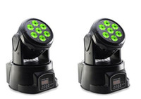 Wholesale 2X LO W IN1 RGBW MINI LED Moving Head Wash Light Wash Light LED Moving Head For Event Disco Party