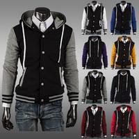 Cheap New Arrived Fashion Men's Jacket Hoodie Baseball Uniform Baseball jacket Coat cardigan style sports sweatshirts
