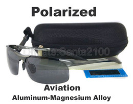 Wholesale 1pcs Mens Aluminum Magnesium Aviation Alloy Polarized Sunglasses Gun Metal Frame For Male Driver Fishing Without Logo