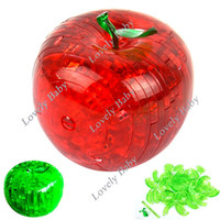 Wholesale Popular Pieces Shape Components D Crystal Puzzles Apple Jigsaw Puzzles Assembly Toy New HOT