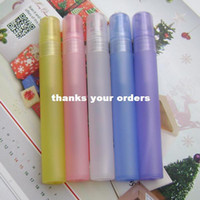 Wholesale Multicolor matte plastic perfume ml spray bottle of perfume bottles perfume packaging written test tube small spray bottle