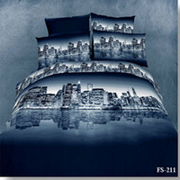 Adult Twill 100% Cotton different City oil printed 3d bedding sets luxury duvet quilt comforter covers bed linen set bedcover bed sheet sets 100% Cotton