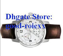 Wholesale Mens Date Quartz Sport Chronograph Watch Men Brown Leather Dive Wristwatch