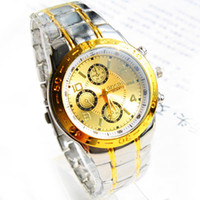 Wholesale 10PCS quartz stainless steel wristband business gifts men watch SF127947